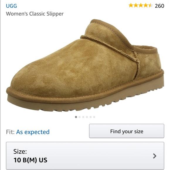 c1379ea56af Women's UGG Classic slippers sz10