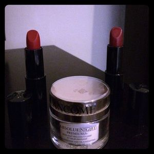 Lancome Absolue night Premium Bx and 2 lipsticks