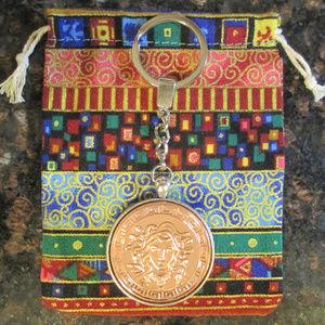 MEDUSA - Keychain, Copper Coin, Pendant