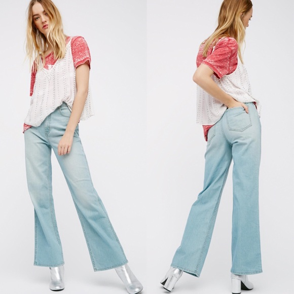 the cheapest new york new products ɴᴡᴛ •FREE PEOPLE• We The Free Straight Flare Jean NWT