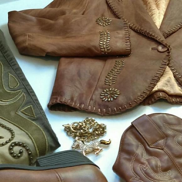 Michael Kors Jackets & Coats - HP Super Soft MK Cognac Tan Brown Leather Jacket