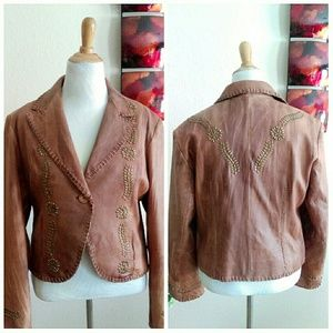 Michael Kors Jackets & Coats - HP Super Soft MK Cognac Tan Brown Leather Jacket