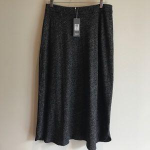 Eileen Fisher NWT $198 Grey Organic Cotton Skirt M
