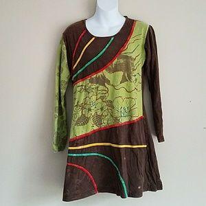 Yak and Yeti Boho Tunic Dress Size Medium
