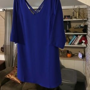 Skies are Blue.   Stitch fix dress<>  shift dress