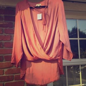 Silky Rose Top Urban Outfitters NWT