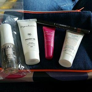 Other - Denim bag and 5 makeup samples NEW