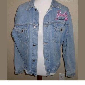 VTG Jerry Leigh Barbie Denim Trucker Jacket Size L