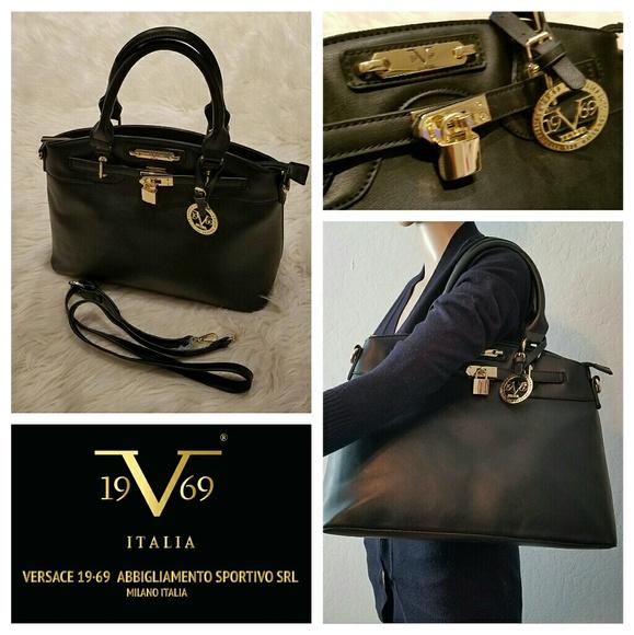 3373017ad99 Versace Bags   345 Amazing New 1969 Black Kelly Bag   Poshmark