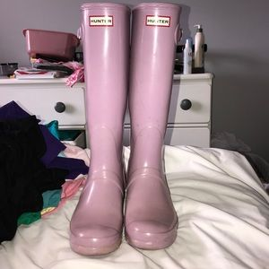 "Hunter boots ""Wisteria"" color size 10"
