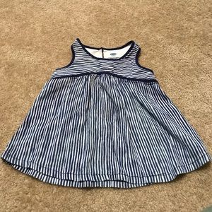 Old Navy girls 4T blue striped tank top