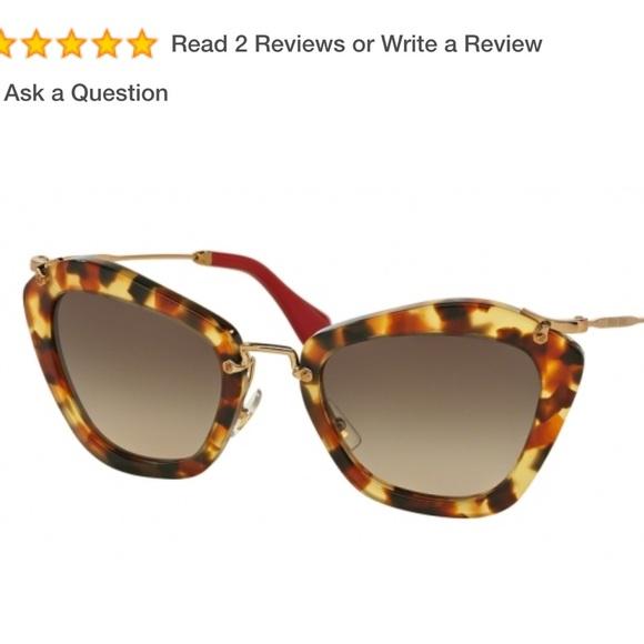 42f86b2957e Miu Miu cat eye sunglasses tortoise acetate Havana.  M 5a0cf4ff620ff7a26001177e