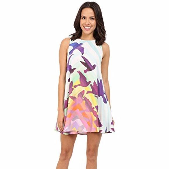 8bb43c22541 Mara Hoffman Dresses | Striped Bird Print Swing Dress | Poshmark
