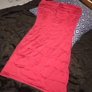 Red mini dress, S