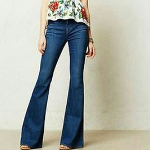 Pilcro and the Letter Press High Rise Flare Jeans