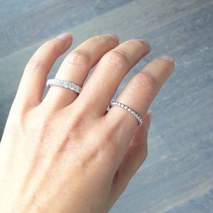 281d187e0 Pandora Jewelry | Eternal Clouds Stackable Ring | Poshmark