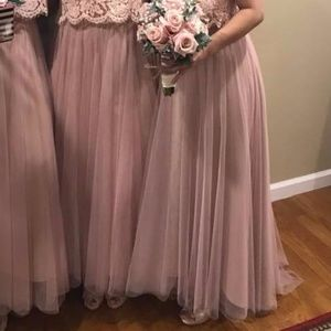 BHLDN Tulle Skirt in Rose Quartz