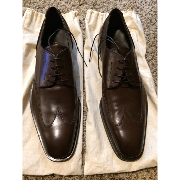 Wingtip Ferragamo Derby Shoes Size 2