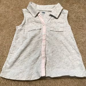 Old Navy girls 3T grey collared tank top