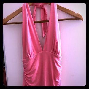Bubblegum pink Trina Turk halter top