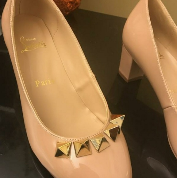 the best attitude 6098e f897e Christian Loubatin square pyramidame shoes