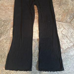 Black pajamas, ribbed, lightweight, comfy, L