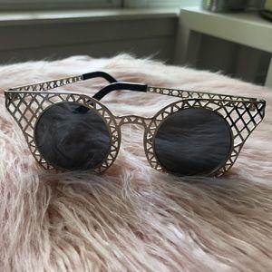 Nasty Gal Round Cat Eye Sunglasses