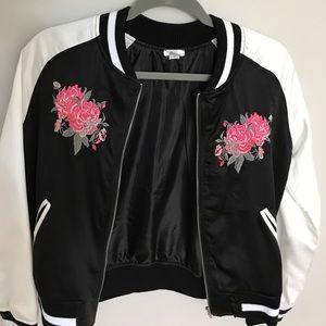 beautiful silk bomber jacket