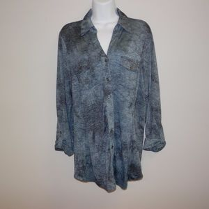 Sz 1X Dress Barn Button Down Top