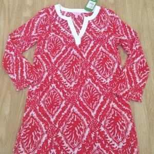 NWT Lilly Pulitzer Ripley Tunic Island Coral