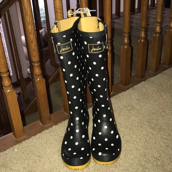 Joules Polka Dot Rain Boots