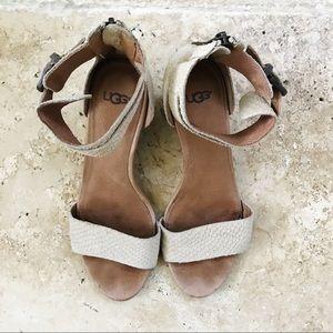 ac1878d0a79 UGG Australia Char Mar Mini Wedge Sandals in Pearl
