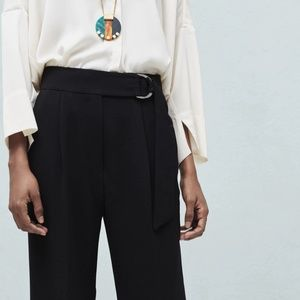 Mango Pants & Jumpsuits - MANGO Belt straight-fit trousers