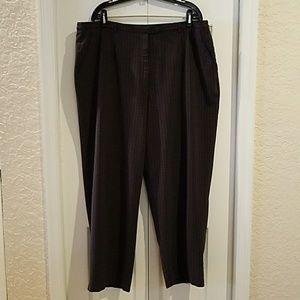 Plus size 18W Modern work pant plaid