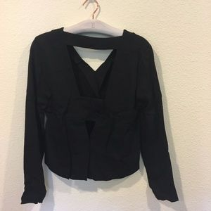 Nicole Miller Tops - Nicole Miller open back black long sleeve blouse