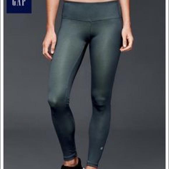 54% off GAP Pants - GAP chameleon leggings - green from Rebecca's ...