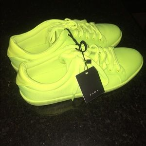 Zara Neon Green Sneakers