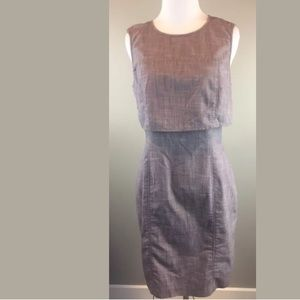 Marc New York Andrew Marc Gray Sheath Dress SZ 6