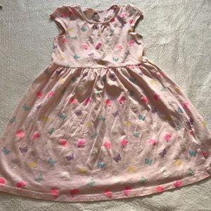 H&M Pink cotton butterfly dress