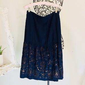 Blue beautiful midi skirt