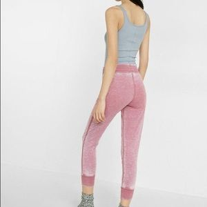 Express One Eleven Burnout Joggers In Romance Pink