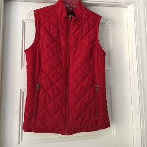 Jackets & Blazers - Red Puffer Vest SOLD