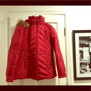 NWOT Red down womens Kenneth Cole jacket