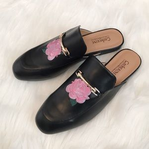NWOT Catherine Malandrino Embroidered Loafers