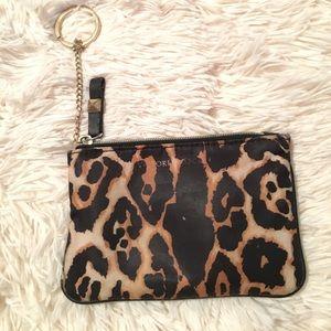 Victoria's Secret cheetah print chain coin purse