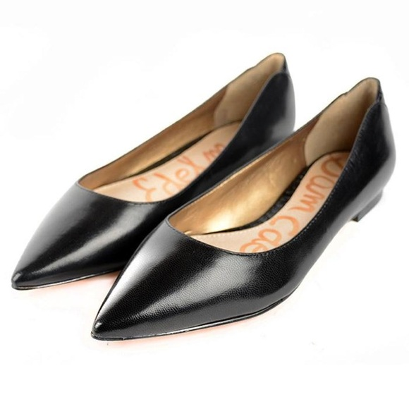 87d69fddc182f Sam Edelman Rae Pointed Toe Black Leather Flats. M 5a0b3e6b4e8d17e9cc02800f