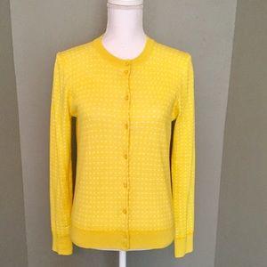 J.CREW Polka Dot Cardigan Sweater