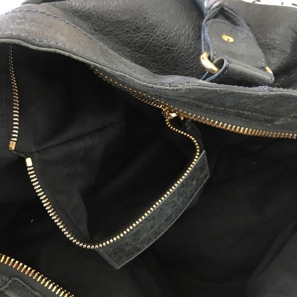 Balenciaga Bags - Balenciaga anthracite lambskin motorcycle bag