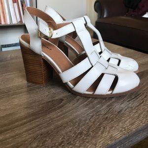 White heeled sandal