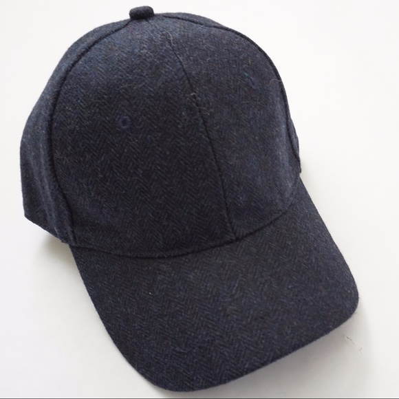 NWT Republic Blue Wool Blend Cap Hat de9150fe426c